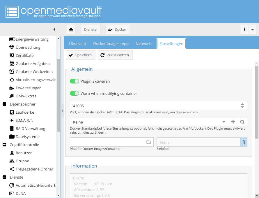 Docker für das OpenMediaVault-NAS - Müggelland EDV-Splitter